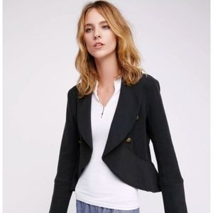 Free People Open Front Military Blazer Jacket